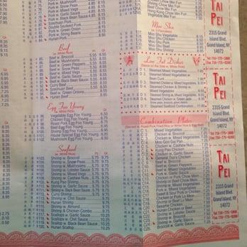 Tai Pei Restaurant Grand Island Ny