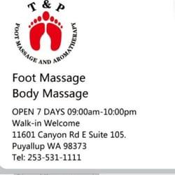 Photo of T&P Foot Massage and Aromatherapy - Puyallup, WA, United States.  Happy