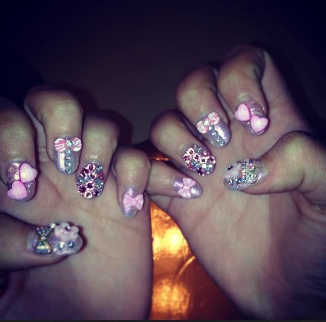 Acrylic nails by Mindy. Bought all the nail accessories myself and ...