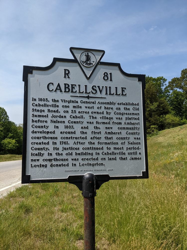 Cabellsville Historical Marker: 37 Cooperative Way, Arrington, VA