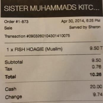 Sister Muhammad S Kitchen Philadelphia Pa