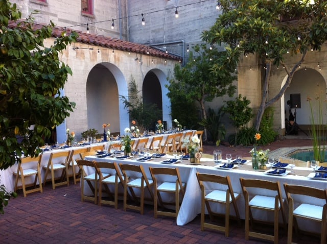 Wedding Reception At Sf Art Institute We Supplied All The Rental