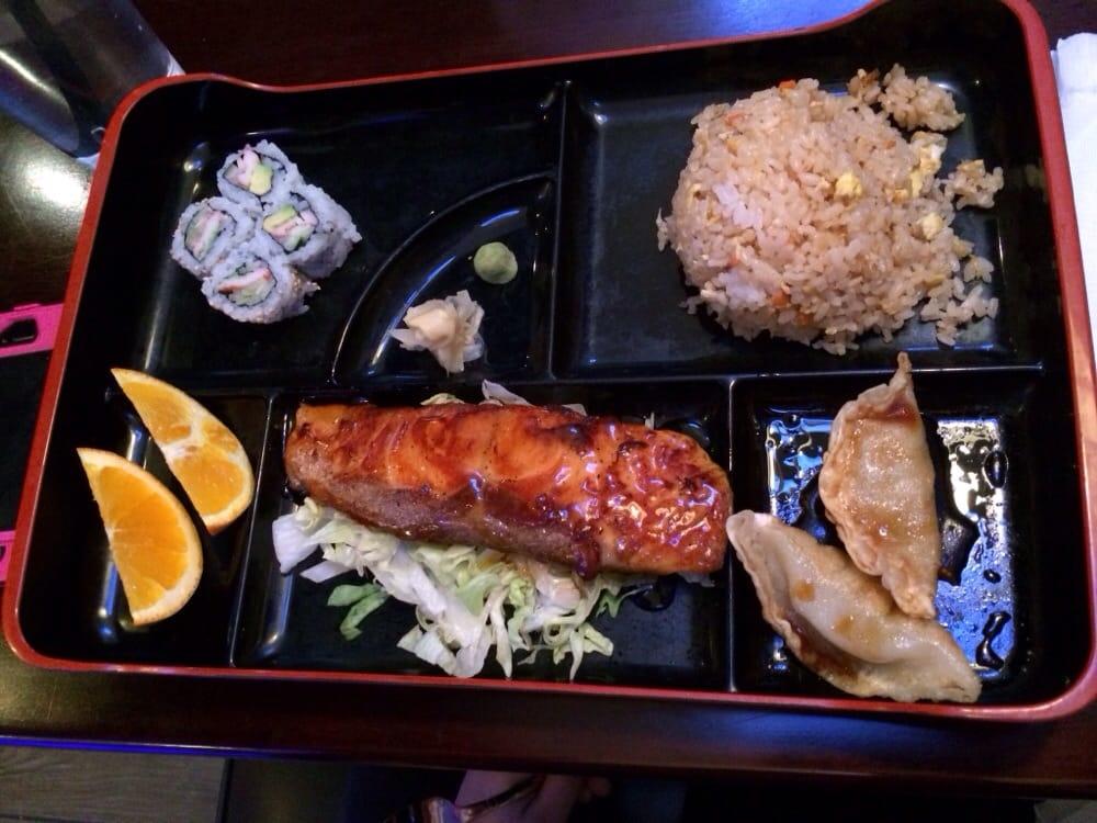 teriyaki salmon lunch bento box yelp. Black Bedroom Furniture Sets. Home Design Ideas