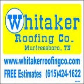 Whitaker Roofing Company: Lascassas, TN