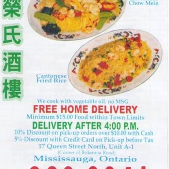 Wings Chinese Food Mississauga Hours