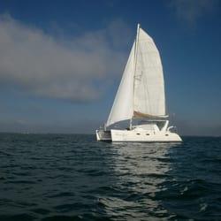Photo Of Catamaran Sailing Miami Fl United States Hula Sails