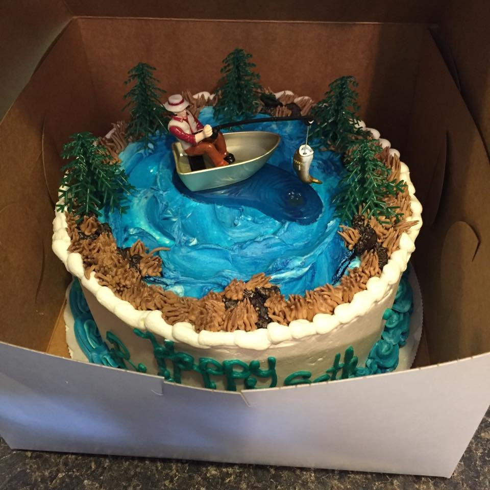 The Birthday Cake For My Fisherman Husband On His Fishing Weekend