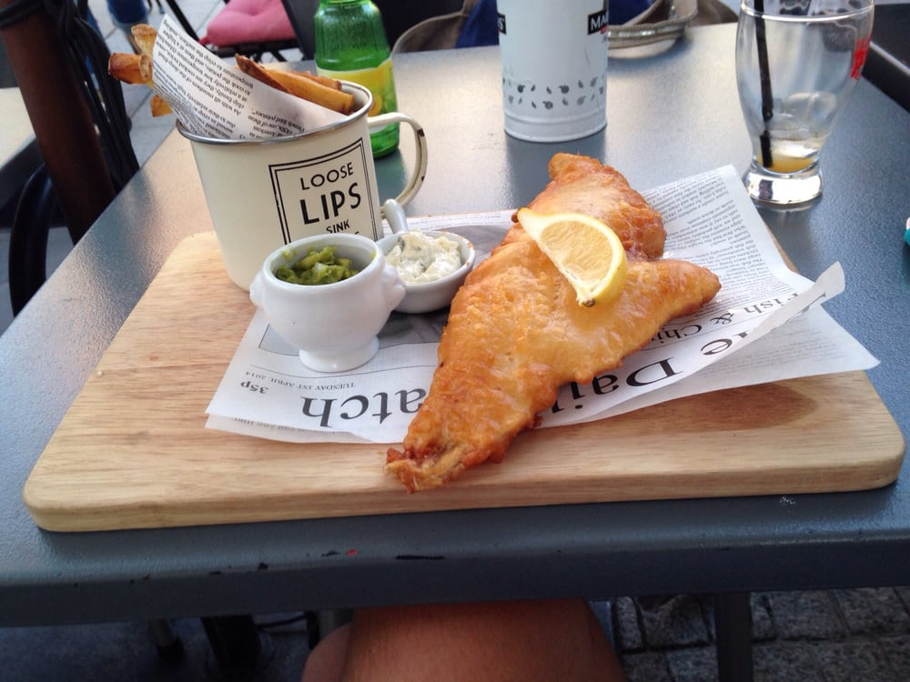 The Market Tavern - Bordeaux, France. Fish and chips