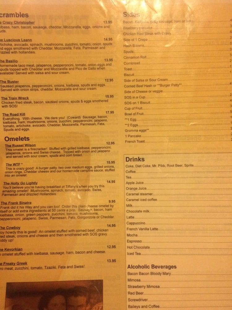 Part of the menu, funny names - Yelp