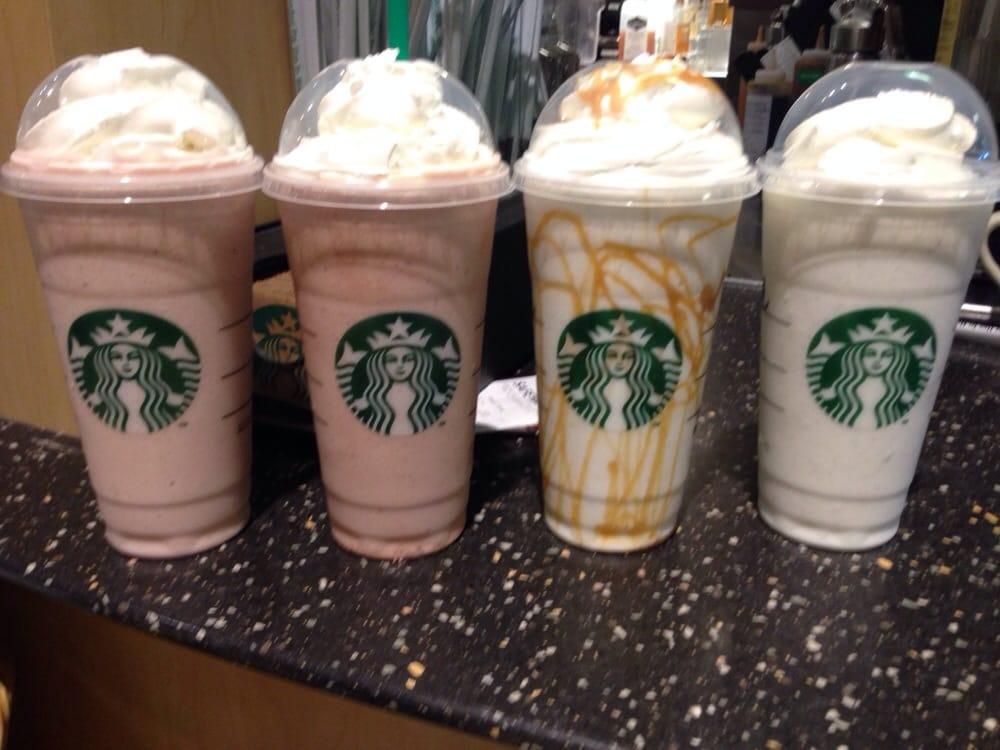 Strawberry and crème frappuccino, Vanilla bean frappuccino ...