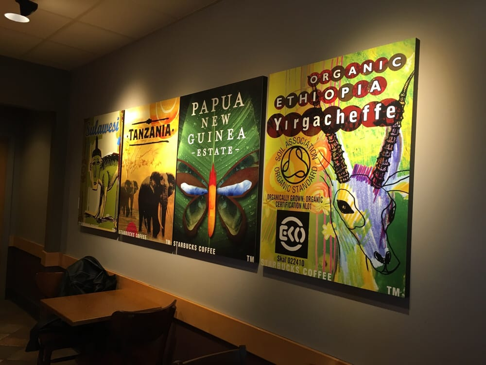 Starbucks wall art - Yelp