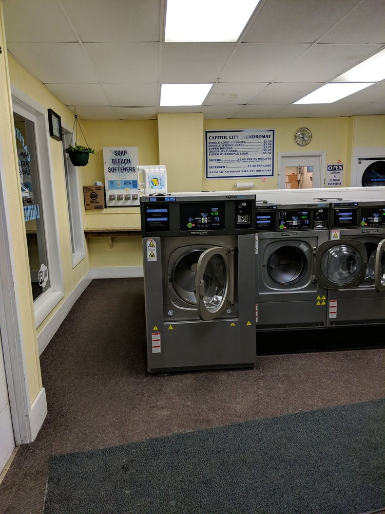 Capitol City Laundromat: 52 Elm St, Montpelier, VT