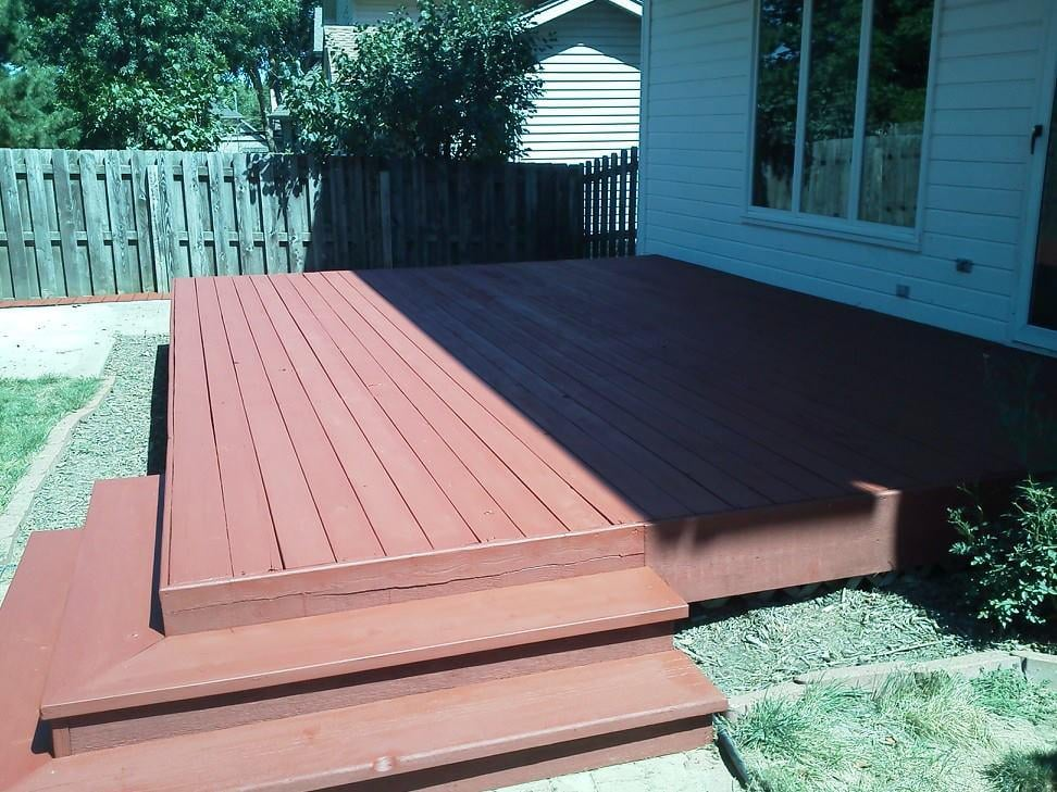 Deck Finished With Sherwin Williams Deckscapes Color