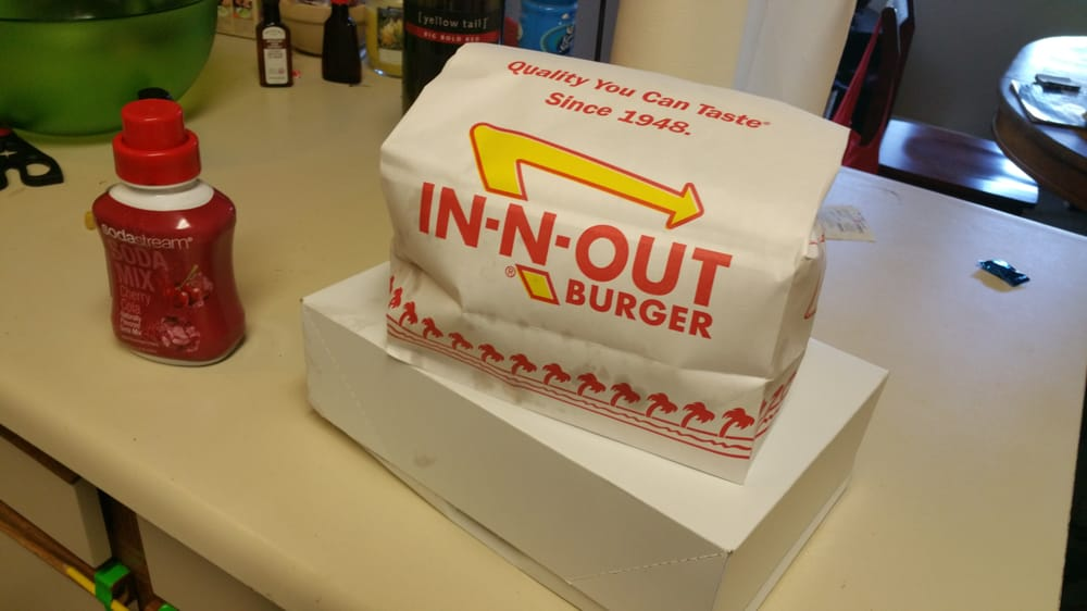 Just Got My In N Out Delivered Via Postmates Very Awesome Yelp