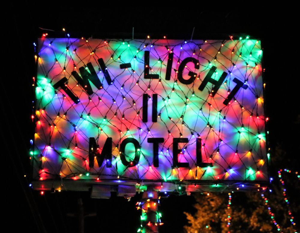 Twi Light Motel II Xmas Light Display