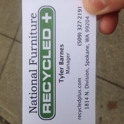 Photo Of National Furniture Recycled+   Spokane, WA, United States.  Business Card
