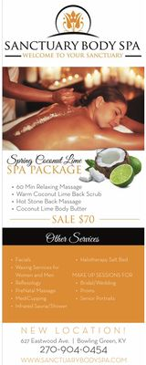 Sanctuary Body Spa 627 Eastwood St Ste D Bowling Green, KY