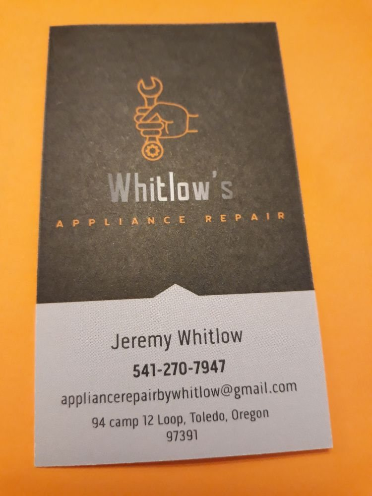 Appliance Repair By Whitlow: 94 Camp 12 Lp, Toledo, OR
