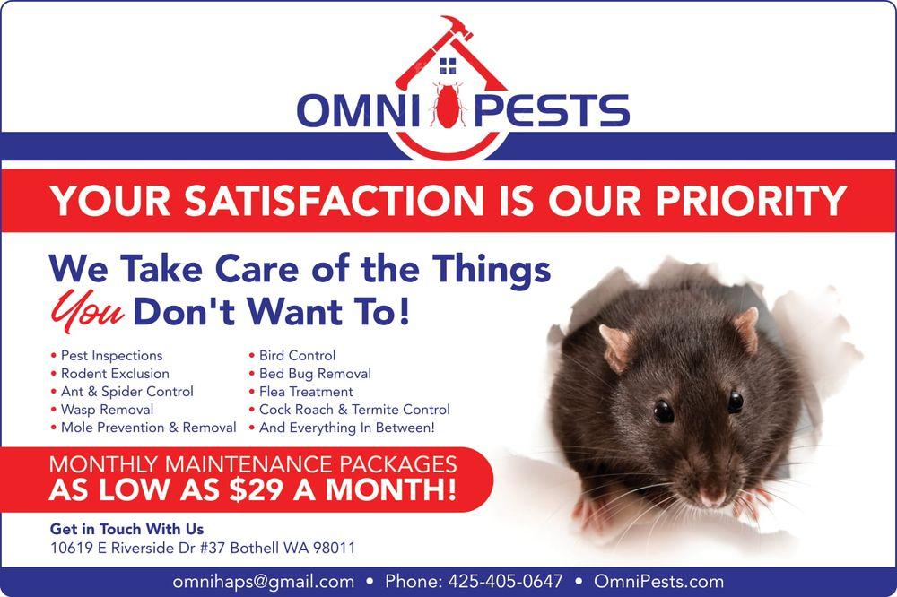 OMNI Pests: 10619 E Riverside Dr, Bothell, WA