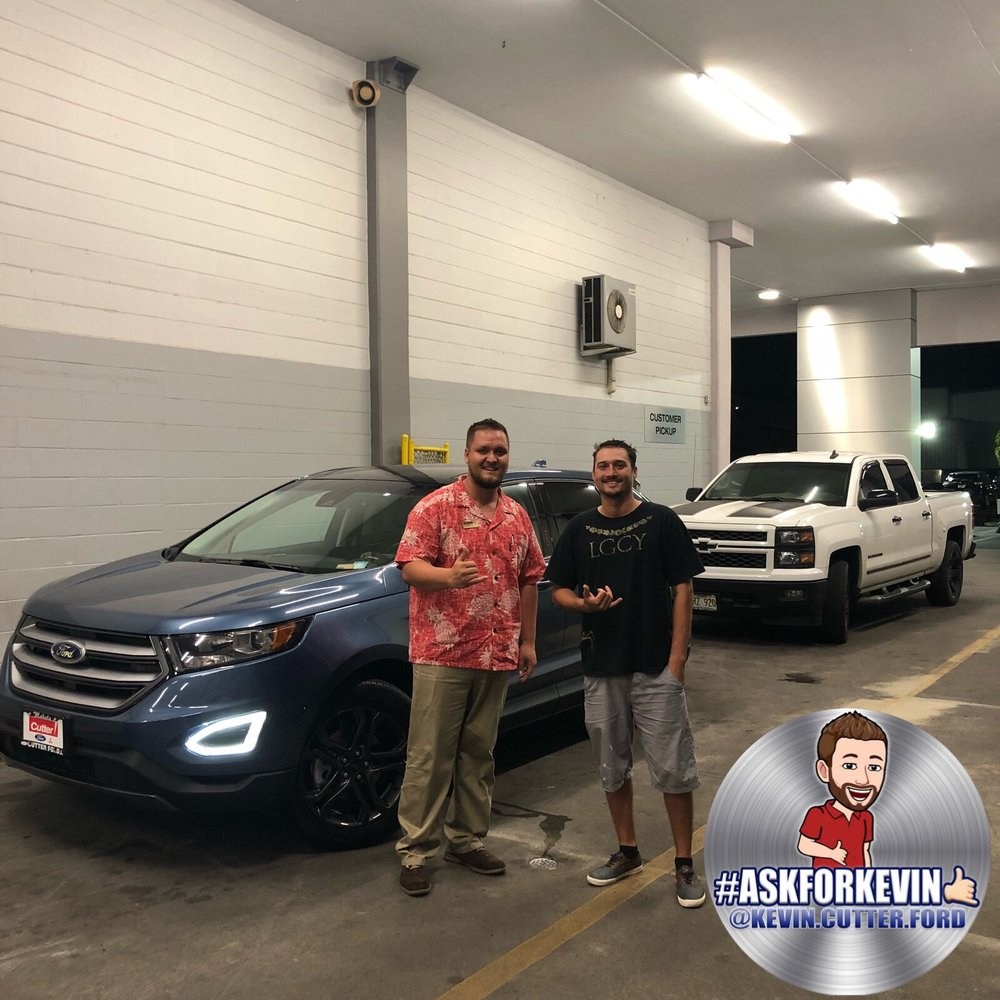 Cutter Ford Aiea >> Congratulations To Jason For Picking Up This 2018 Ford Edge