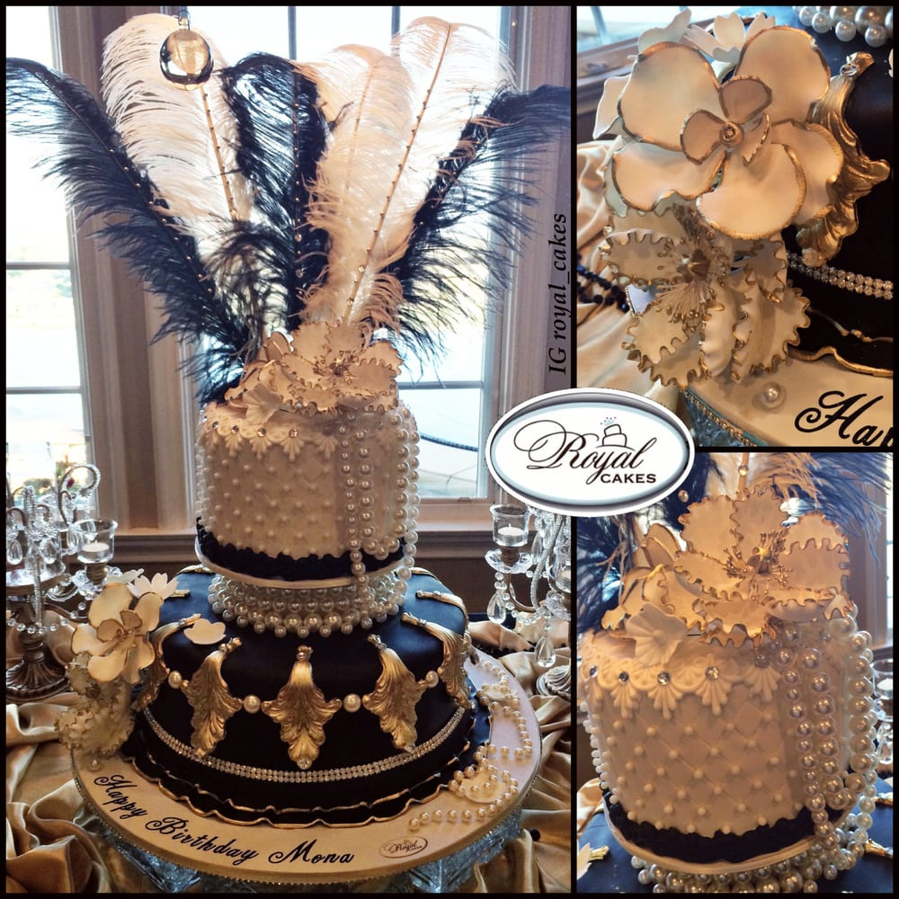 Feathers & Pearls Great Gatsby Birthday Cake Theme Www