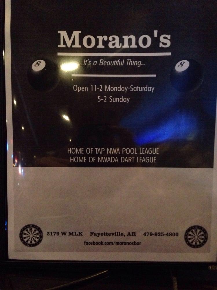 Morano's: 2179 W Mlk, Fayetteville, AR