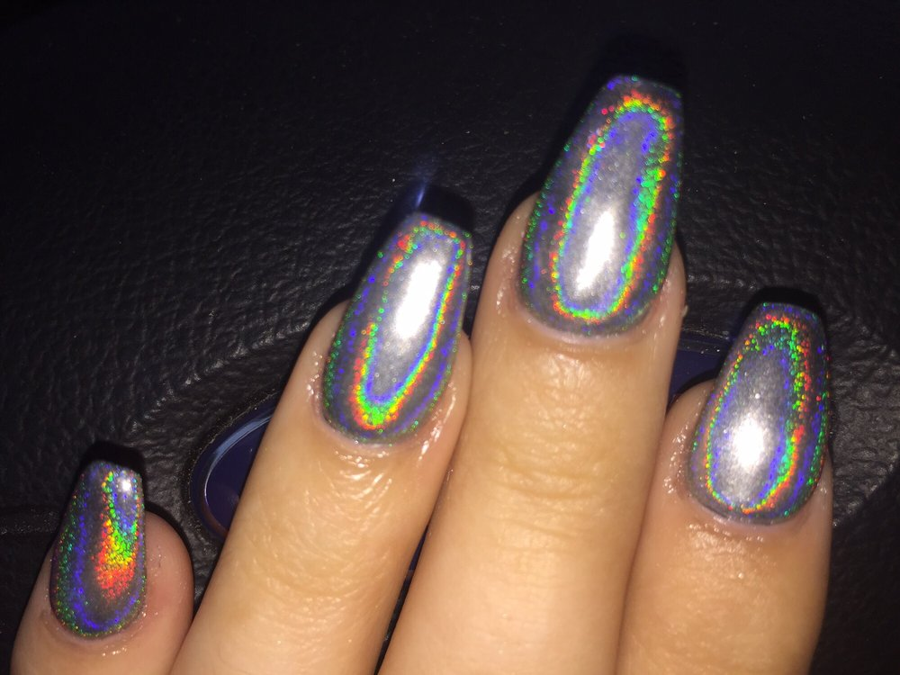 My pinky nail looks crooked because of the angle, the nails are all ...