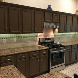 Photo Of Larryu0027s Quality Home Repair Services   Ocala, FL, United States.  Painted. Painted Cabinets, Granite Countertops ...