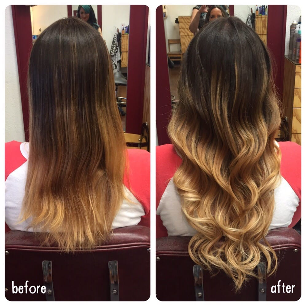 Before And After 6 Bundles Of 18 Keratin Fusion Hair Extensions Yelp