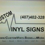 Custom Vinyl Signs Screen PrintingTShirt Printing - Custom vinyl signs