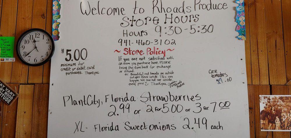 Rhoads Produce: 210 N Indiana Ave, Englewood, FL