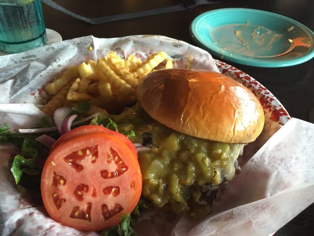 Green chile cheeseburger Yelp