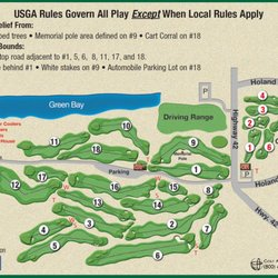 Peninsula State Park Golf Course Map