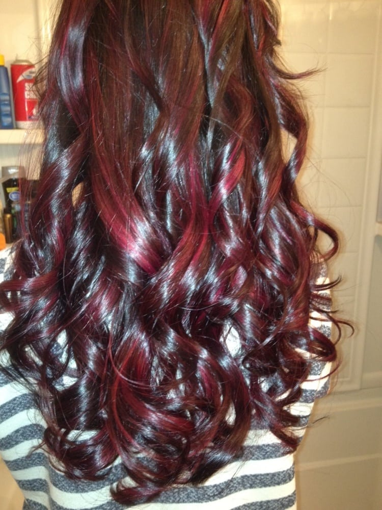 Naturally Red Hair With Dark Red Lowlights