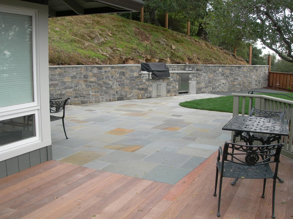 Bluestone patio with ipe deck yelp for Bluestone porch