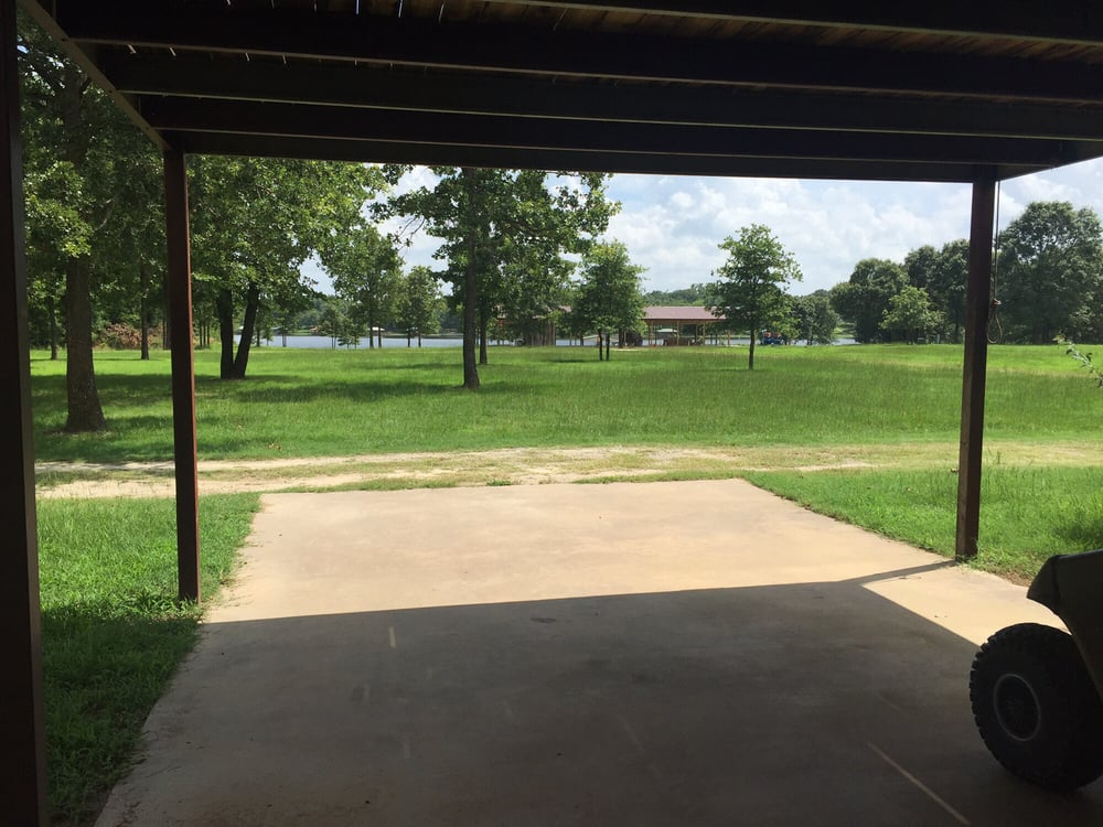 Patio Of The Barn Looking Down To The Lake So Peaceful