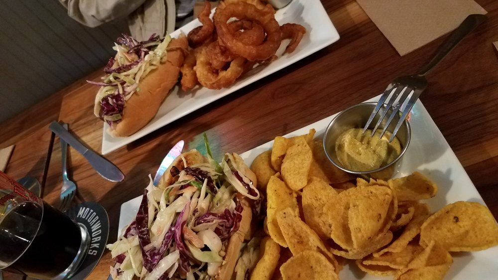 Beer Battered Rachel with Organic Corn Chipz and 'Linar Dawg with