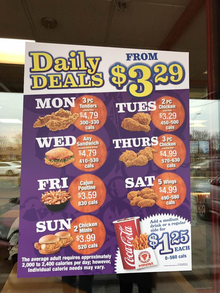 deals on popeyes