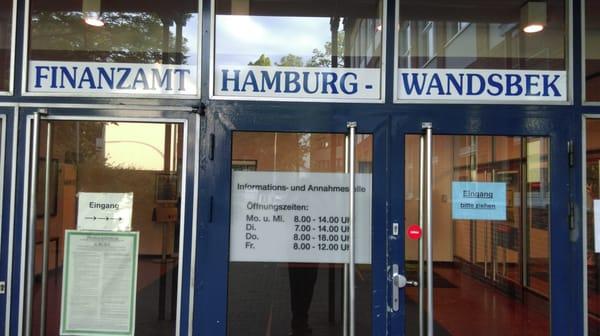 finanzamt hamburg wandsbek kamu dari hizmetler schlo str 107 wandsbek hamburg almanya. Black Bedroom Furniture Sets. Home Design Ideas