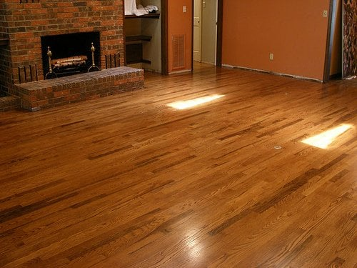 2 1 4 Select White Oak Install Sand And Finish Chestnut