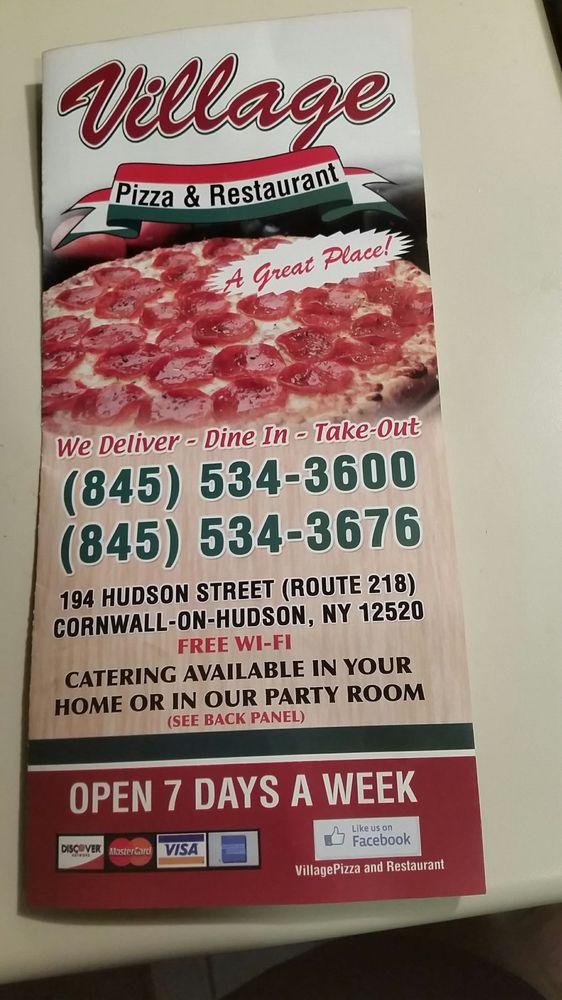 Village Pizzeria & Restaurant: 194 Hudson St, Cornwall On Hudson, NY