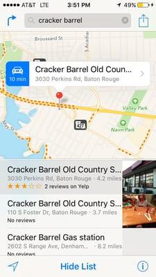 Cracker Barrel Stores Perkins Rd Baton Rouge LA Convenience - Cracker barrel us map