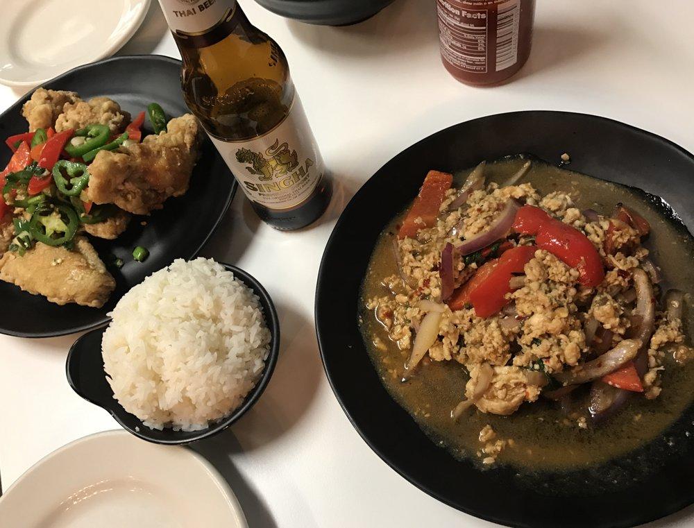 Food from LeDu Thai Eatery