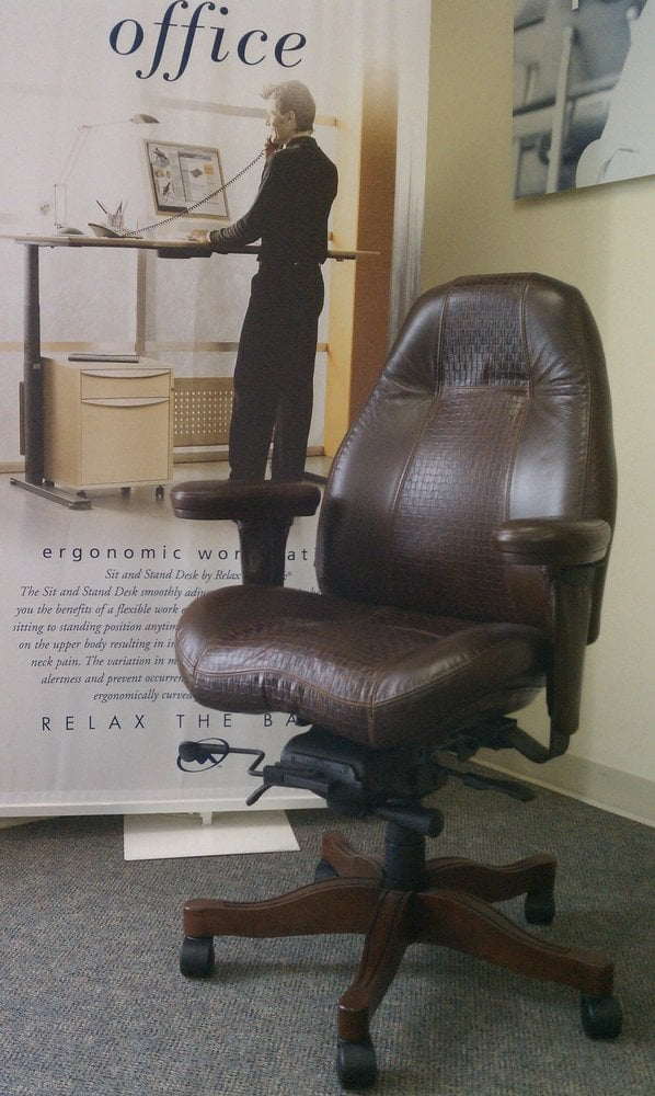 lifeform ultimate executive high back chair in stone mountain
