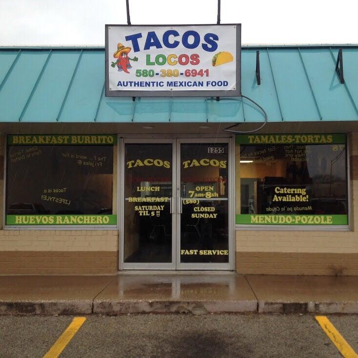 Tacos Locos: 1255 N Washington Ave, Durant, OK