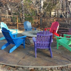 Lovely Photo Of Yard Art Patio U0026 Fireplace   Lewisville, TX, United States.  Adirondack