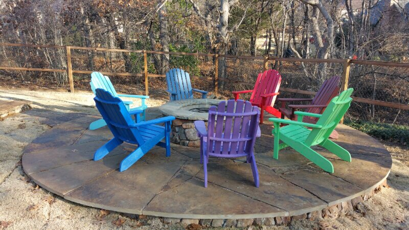 Photo Of Yard Art Patio Fireplace Lewisville Tx United States Adirondack