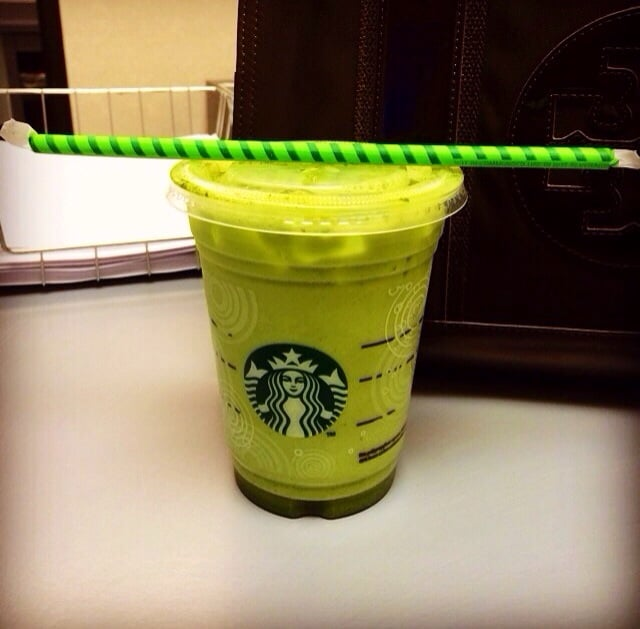 Favorite! Iced Green Tea Latte With Extra Matcha