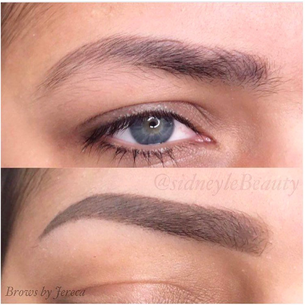 Permanent tattoo brow by jereca top pre existing for Powder eyebrow tattoo