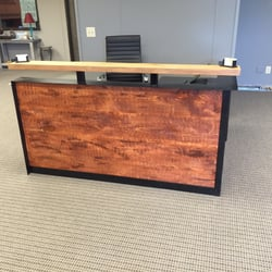 Photo Of OneSource Office Furniture   Norcross, GA, United States.  Reclaimed Wood Reception